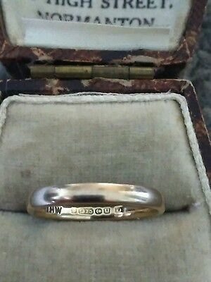 Lovely Ladies Vintage 1944 Hallmarked 9ct Gold Band - Wedding Band Ring. Size K