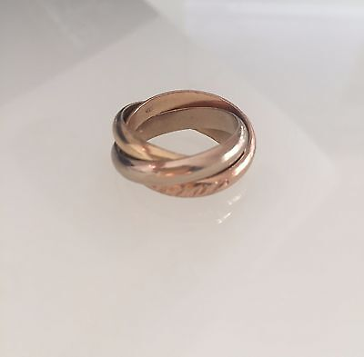 Authentic Cartier Trinity 18k ring. Size 53.
