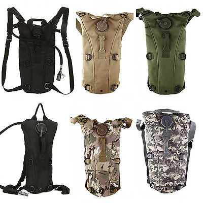 UK 3L Water Bladder Bag Hydration Backpack Camelbak Pack Hiking Camping Rucksack