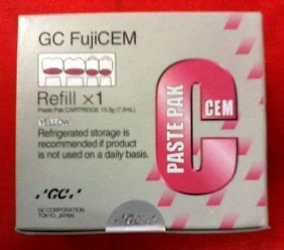 GC Fuji Cem Reinforced glass ionomer luting Cement Easy Mixing In Only 10 Sec