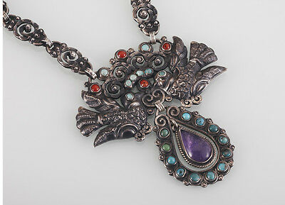 Lovely Rivera Matl-Style Sterling Palomas Necklace Mexico 925