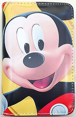 Mickey Mouse Kids Girls Boys Faux Leather Bifold Coin Bag Purse Wallet