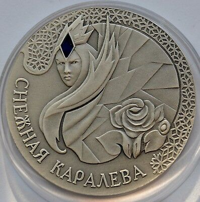 Belarus, 20 Roubles, 2005  Proof Silver Coin, Snow Queen, Snow White