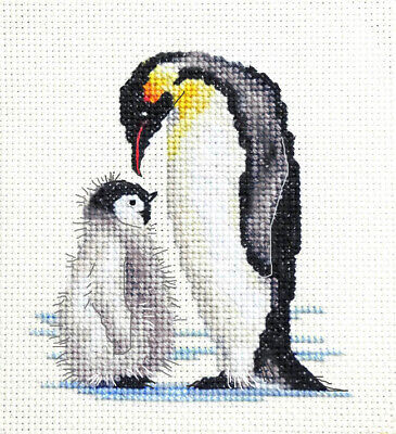 PENGUINS ~ Frozen, Original Full counted cross stitch kit + All materials