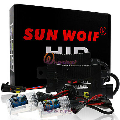 SUNWOIF Pair H7 Xenon Replacement Bulb 55W 10000K Single Hid Kit Car Front Light