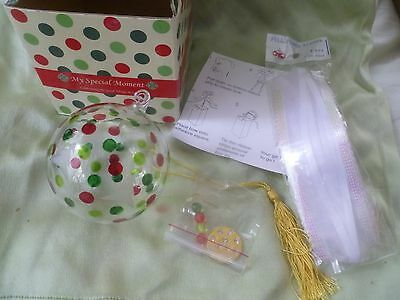 MOMO PANACHE Hand Crafted Glass Ball Ornament Helen James Design - NEW in BOX