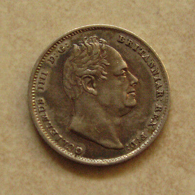Rare Silver Sixpence 1837 Coin King William Iv Extremely Fine Grade