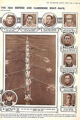 Cambridge.Oxford.Rowing.1921.Boat-race.Rower.Sport.Blues.Colleges.Sporting
