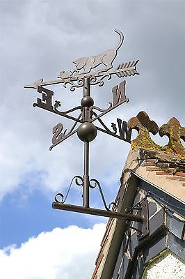 Large Size Rustic Cast Iron Cat and Mouse Weathervane Wind Vane Wind Cock