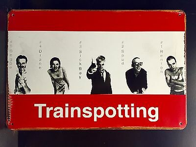 Trainspotting  Classic Movie Metal Poster, Wall Decor Garage Metal Sign