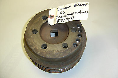 detroit series 60 crankshaft pulley 8929077