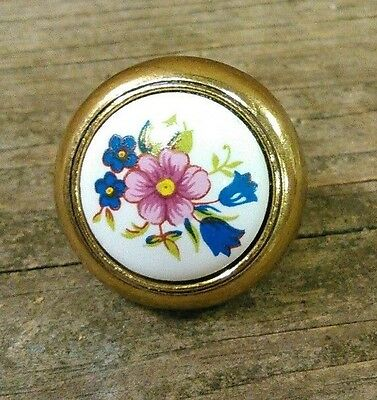 vintage floral drawer handles cabinet door pulls knob antique unique original