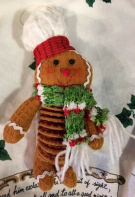 Gingerbread Christmas Tree Hanging Ornament PEPPERMINT CANDY Kitchen Decor Lg