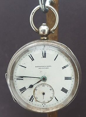 Antique Solid Silver Fattorini And Sons Bradford Pocket Watch 1905