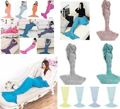 UK SELLER - Mermaid Fish Tail Blanket Lounge Gift Present Fast Dispatch *LICK*