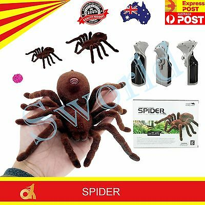 Realistic RC Spider Remote Control 2CH Infrared Kids Adults Prank Toy Best Gift