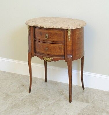 French Style Commode / Night Stand with Marble Top.
