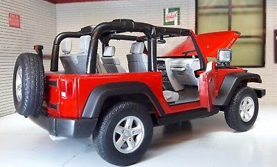 Jeep Rubicon Wrangler 2007 LGB G 1:24 Scale Detailed Diecast Model Open Back