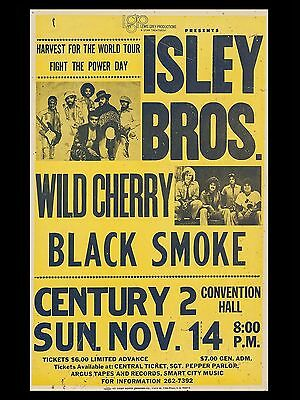 """Isley Brothers Century 2 16"""" x 12"""" Reproduction Concert Poster Photo"""