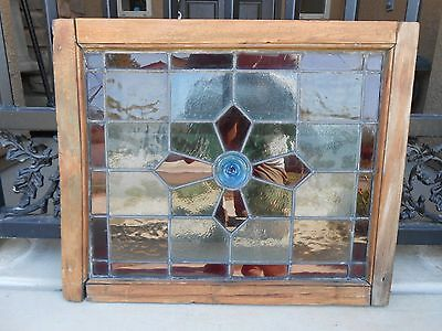 ~~ANTIQUE STAINED GLASS WINDOWS (lot of 3)~~