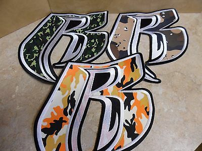 """Ruff Ryder Patch Lot Three Different Camo Rough Rider Patches 9 1/2"""" By 11"""""""
