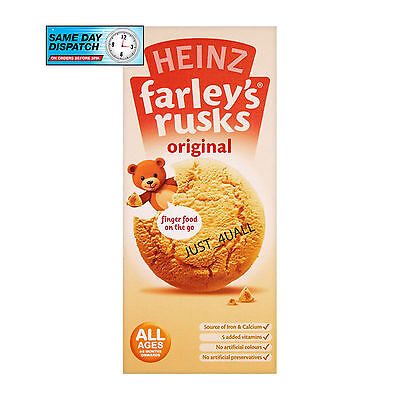 3 X 150G Heinz Original Farleys Rusks From 4 Months Babies