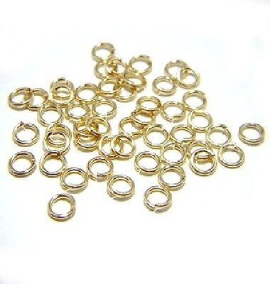 Snapeez II Ultraplate 6mm 24K Gold Jump Rings (50)