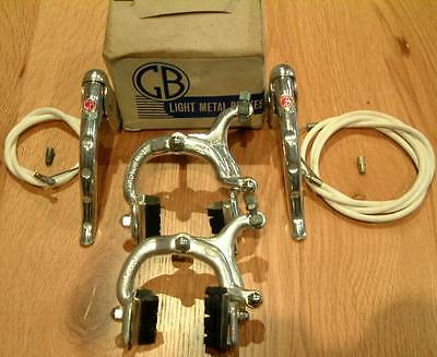 Gb Sport Mk 3 Brakes With Arret Levers See Photo In Listing 1950's/60's Nib Nos