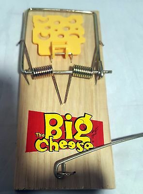 The Big Cheese Catch & Kill Pest Rat Wooden Trap Baited Ready To Use