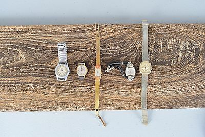 5 Watch Lot Phaser Titus Chase Helbros for Parts or Repair