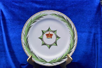 Early 19th Century Cabinet Plate / Charger Imperial State Crown Queen Victoria