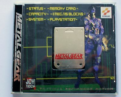 Official Metal Gear Solid Ps1 Memory Card