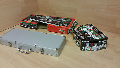 Poker Chip Set in Aluminium Carry case quality Chips joblot double two multiple