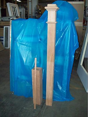 "65"" LJ SMITH CHERRY STAIRCASE NEWEL POST - NEWnBOX- MODEL 4176 - SOLID W/SLEEVE"