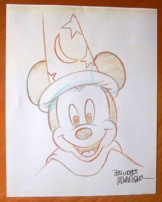 "Disney Original Copy 10"" X 8""  Pencil Sketch-Mickey Mouse- Signed Mark Seppala"