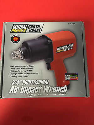 """Central Pneumatic Earthquake 3/4"""" Professional Air Impact Wrench 68423"""