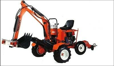 Powerfab PLANS for towable mini excavator digger backhoe 180 slew with DRIVE