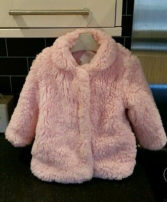 Girls pink fur coat 2 years