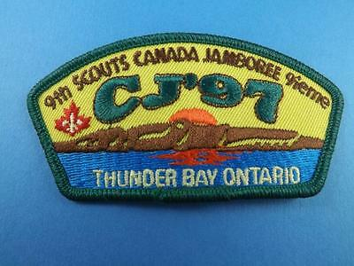 Boy Scouts Canada Jamboree Cj 1997 Thunder Bay Ontpatch Collector Badge