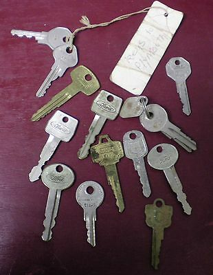 Vintage Car Keys & Other Ford, Mercury, Plymouth, Datsun #0