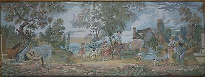 "Antique / vintage French Wall Hanging Tapestry 75"" x 28"""