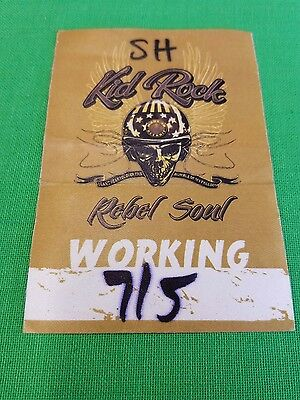 Kid Rock Stage Pass! 2013 Rebel Soul Tour! 2 Unused Satin Stickers