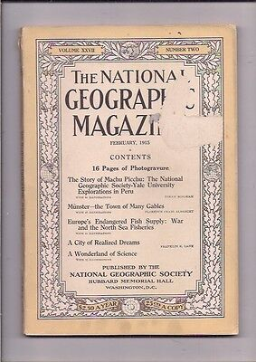 national geographic-FEB 1915-THE STORY OF MACHU PICCHU.