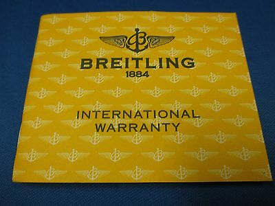 BREITLING 22 Page Watch & Chronograph Warranty Certificate Papers