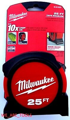 New Milwaukee 25' Heavy Duty tape Measure 48-22-5525 9 Foot Standout 25ft Nylon