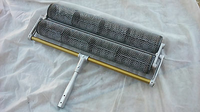 """36"""" Roller Tamp for stamped concrete with 1-3/4"""" Diameter Button Adapter"""