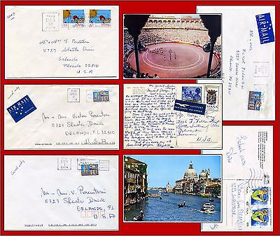 6 items AUSTRALIA SPORTS STAMPS and from Italy too & a bullfight card from Spain