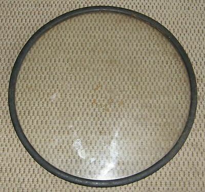 """Vintage Porthole Window Glass 12 1/4"""" with Gasket - Double Layer"""