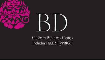 500 Custom Full Color Business Cards + Free Design Free Shipping