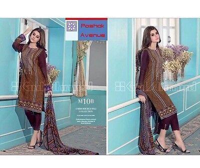 GUL AHMED 100% Original Winter Collection 2015 Unstitched Suit M-10B